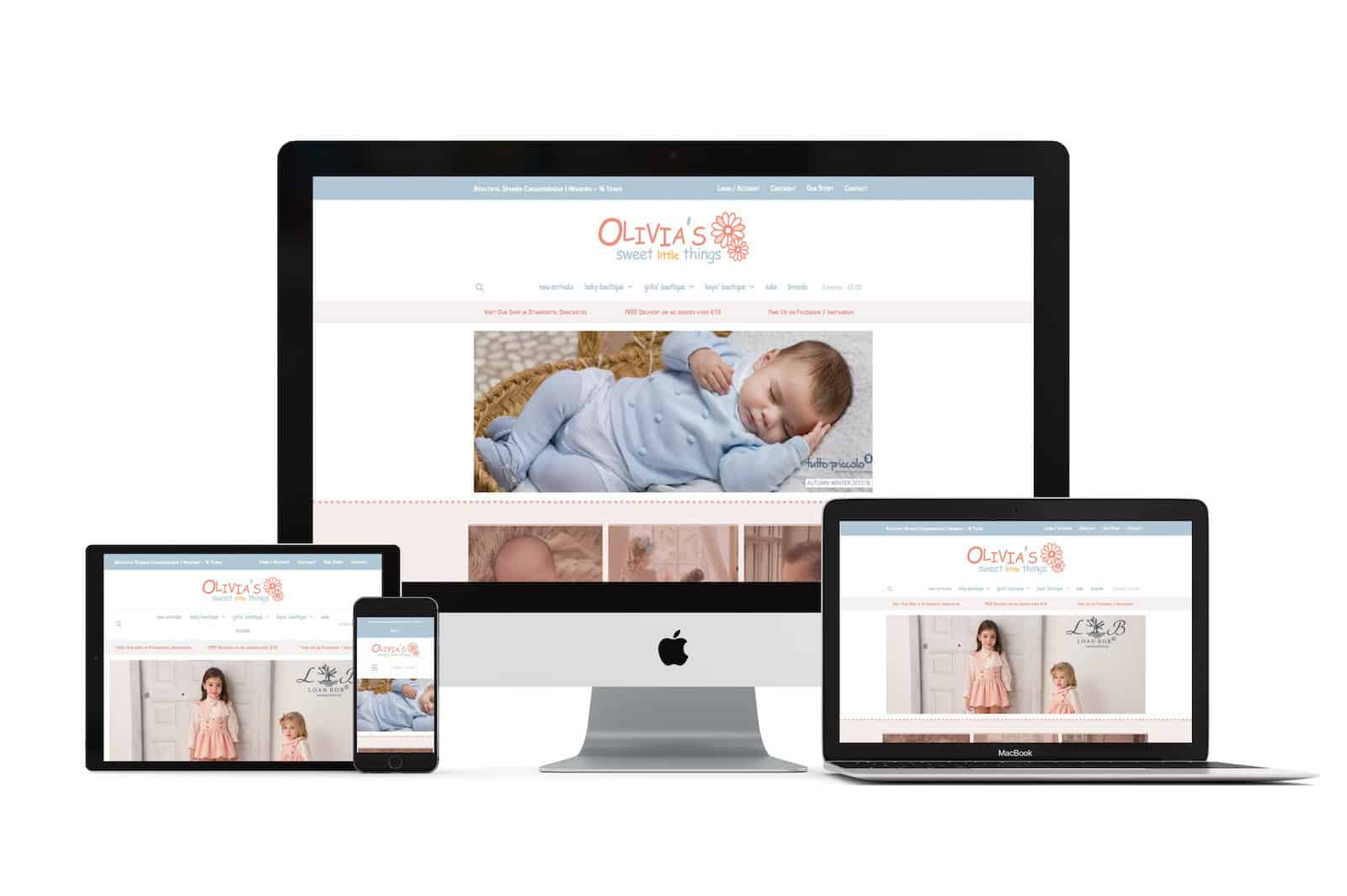 Olivia's Sweet Little Things Web Design Doncaster