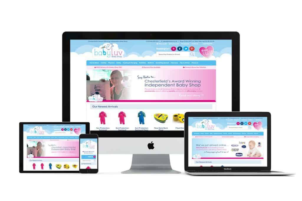 babyluv Web Design Chesterfield