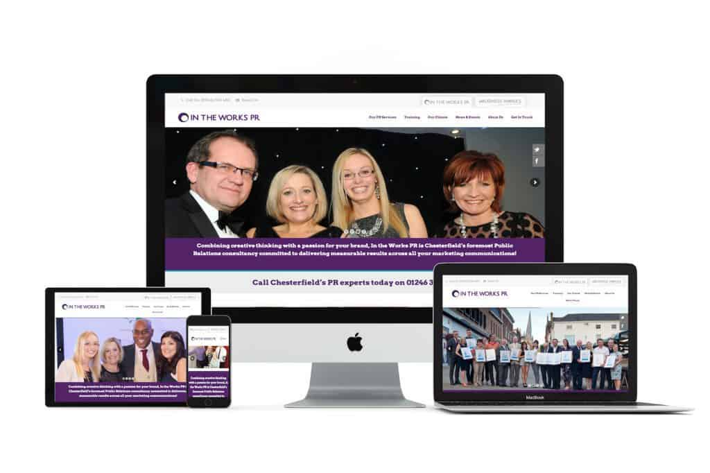 In The Works PR Web Design Chesterfield
