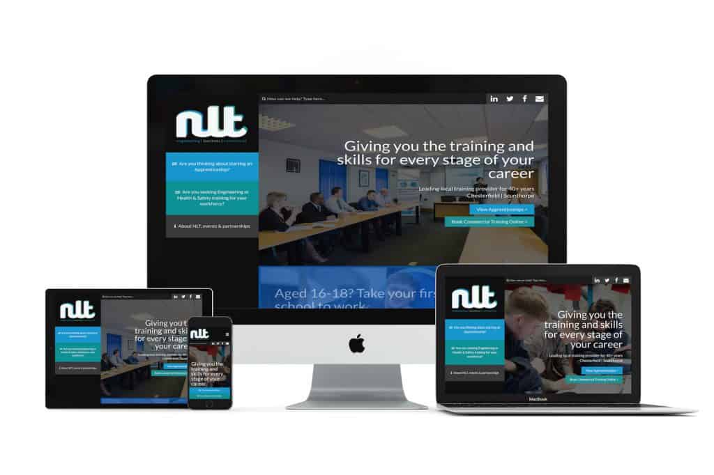 NLT Training Services Web Design Chesterfield