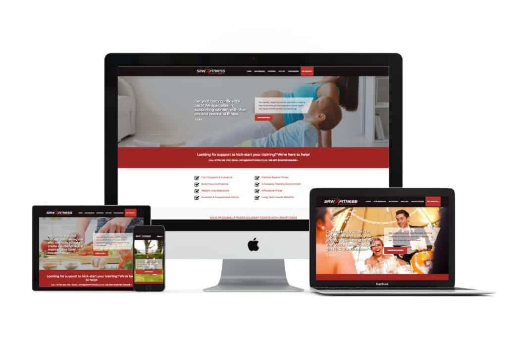 SRW Fitness Web Design Chesterfield