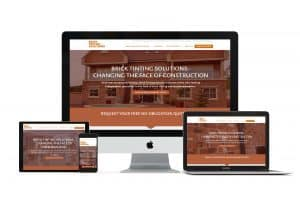 professional website design for brick tinting company