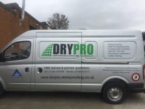 web design chesterfield for DryPro damp proofing company