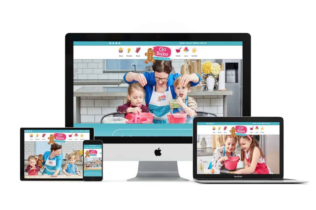 our website design for go bake in nottingham