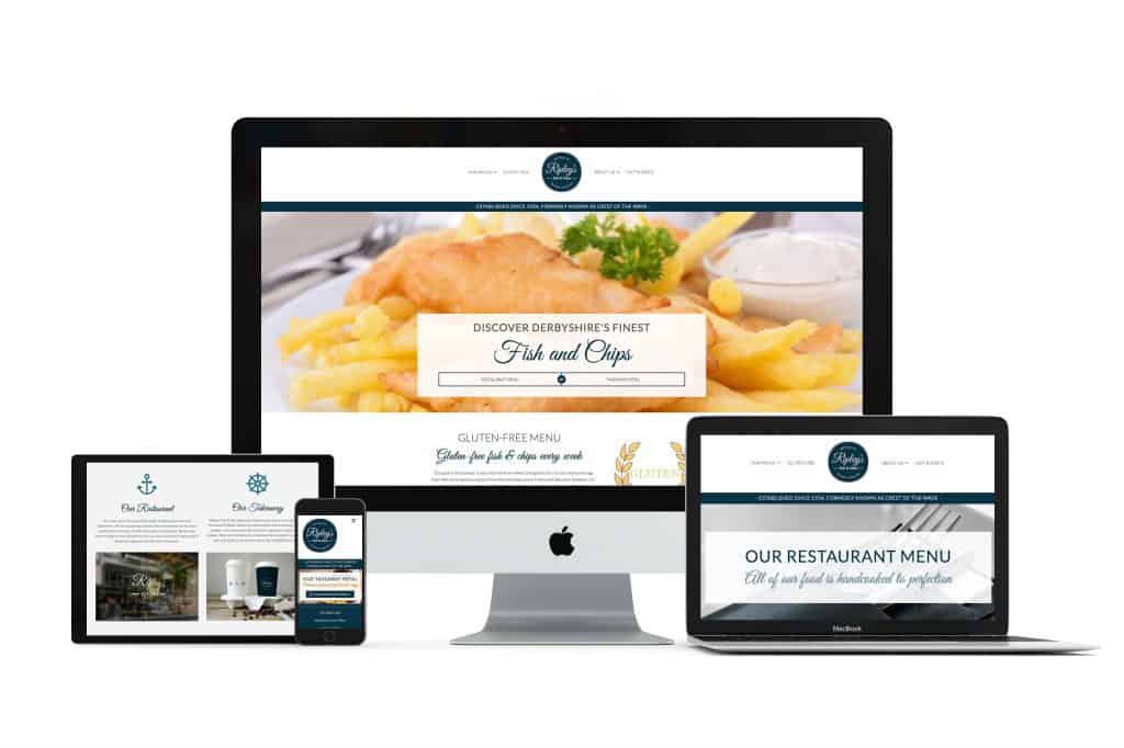 bespoke website design for ripley's fish and chips near derby