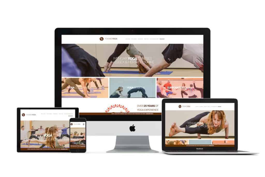 professional web design for London yoga classes