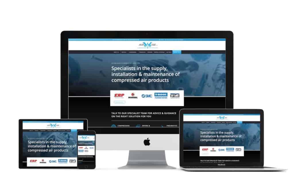 airwise website design