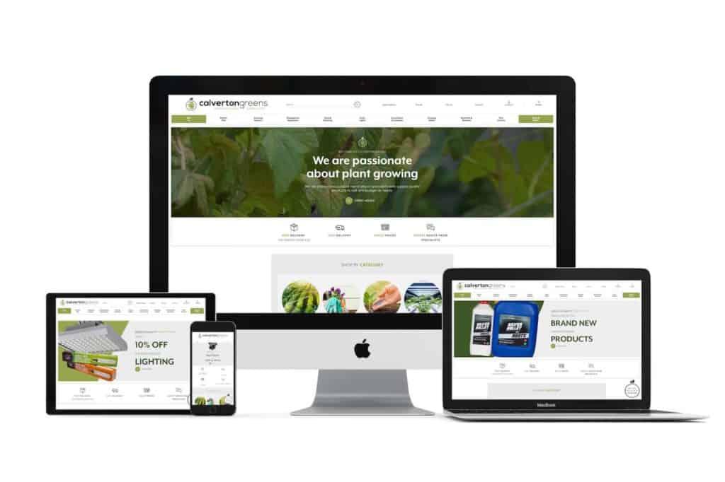 calverton greens website design