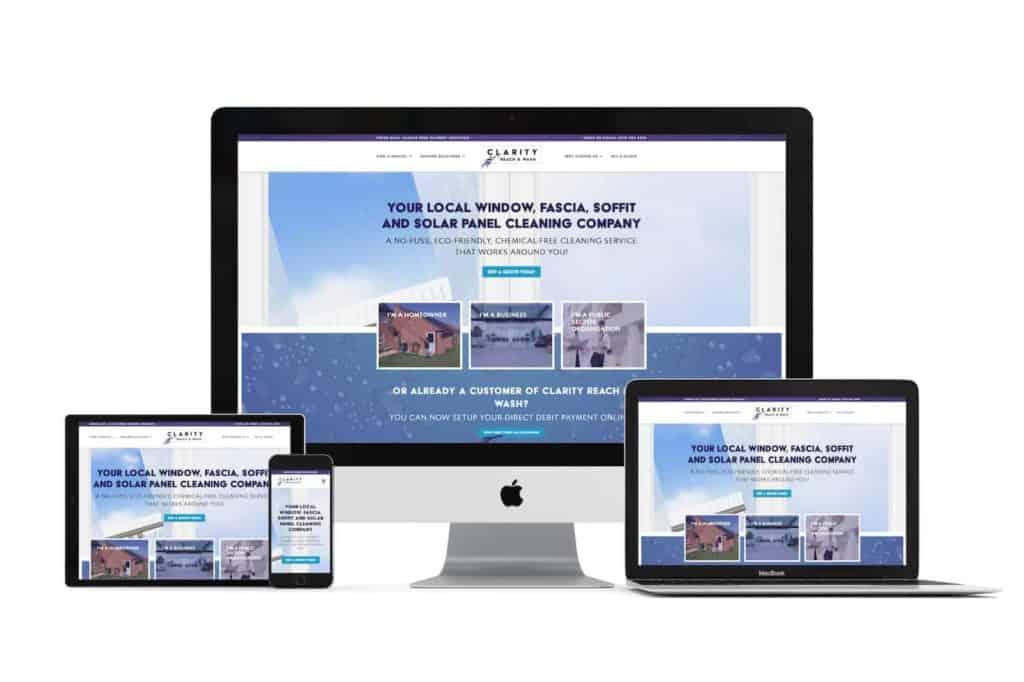 clarity reach & wash website
