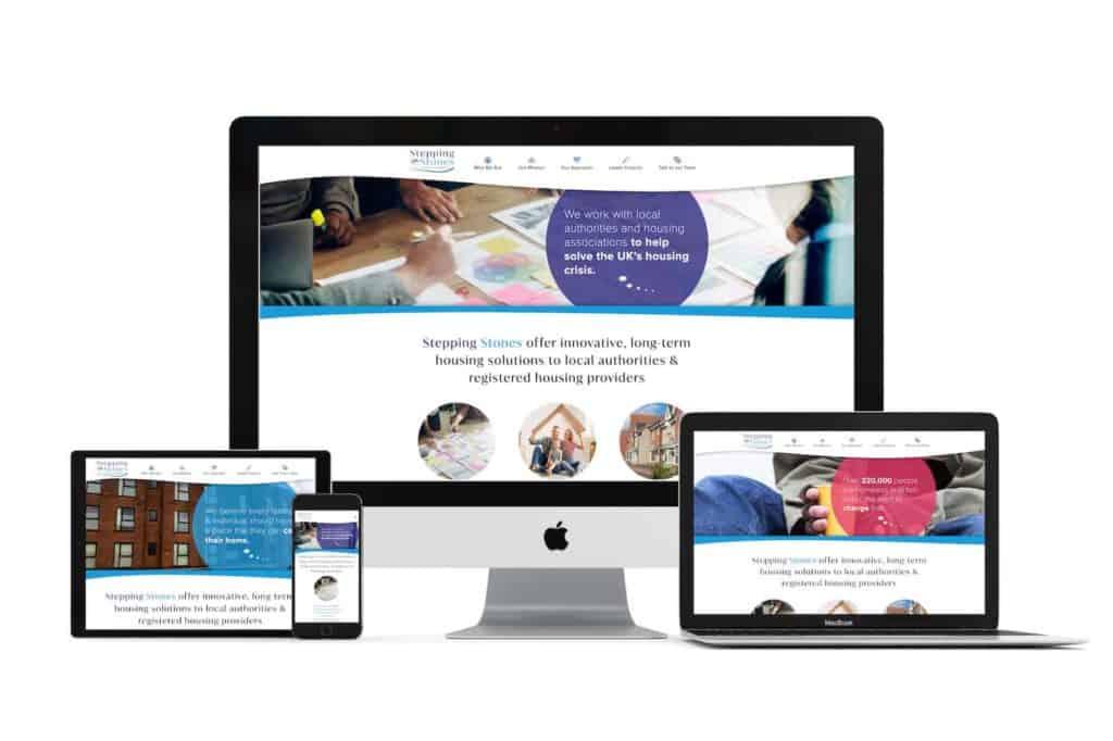 stepping stones website design