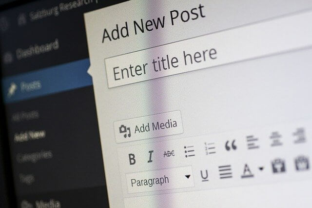 usiong the WordPress content system
